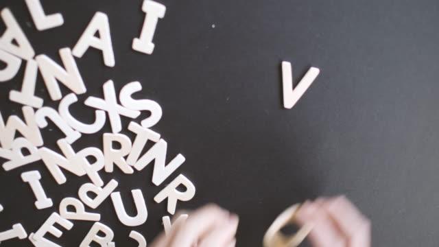 Vote Spelled In wooden alphabet