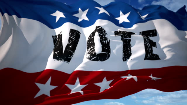 vote usa american election - voting booth stock videos and b-roll footage