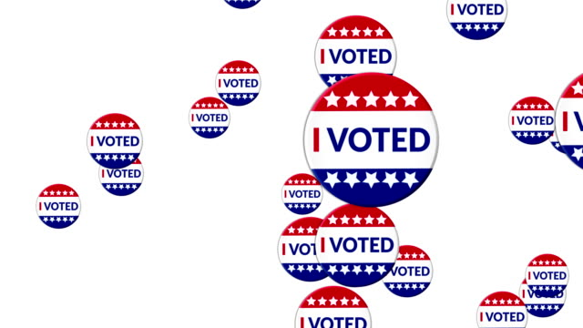 i voted badge animation - political action committee stock videos & royalty-free footage