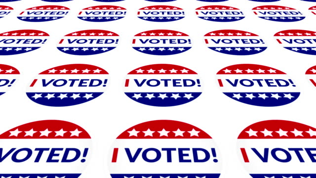 i voted! - political action committee stock videos & royalty-free footage