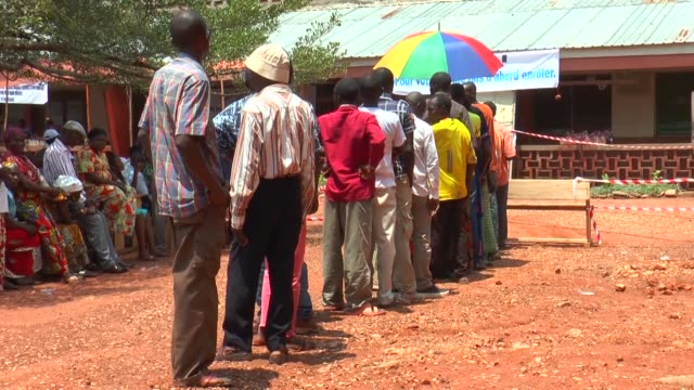 voter identification and registration has begun in the nothern town of gbadolite in drc - democratic republic of the congo stock videos & royalty-free footage