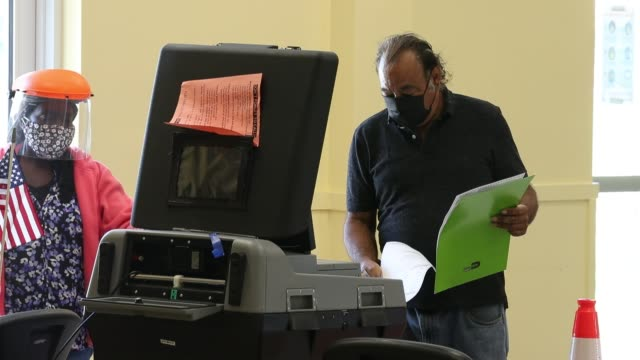 voters cast their ballots at the legion park polling place on november 03, 2020 in miami, florida. after a record-breaking early voting turnout,... - cast member stock videos & royalty-free footage