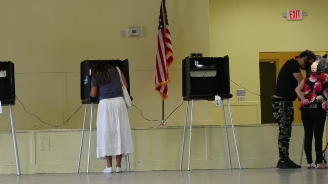 voters cast their ballots at the legion park polling place on november 03, 2020 in miami, florida. after a record-breaking early voting turnout,... - ballot box stock videos & royalty-free footage
