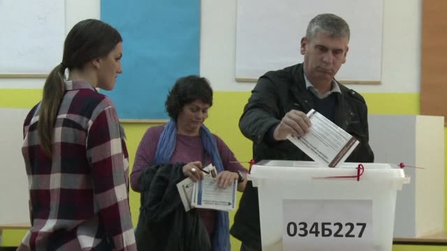 voters come out in banja luka capital of the republika srpska a bosnian serb entity and in laktasi a neighbouring village where the bosnian serb... - banja luka stock videos & royalty-free footage