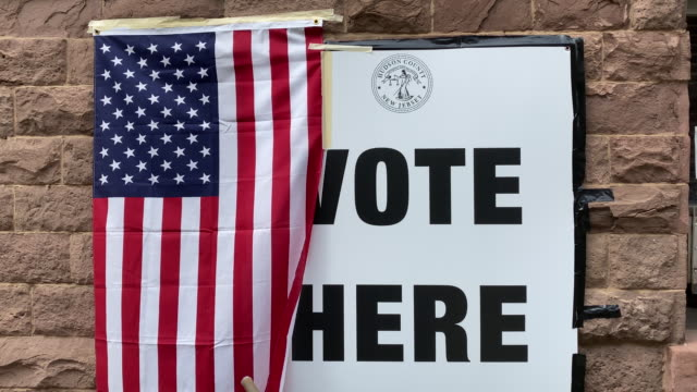 voters drop off ballots at ballot drop off boxes and vote at polling places during primary election day in newark, new jersey, u.s. on tuesday, july... - united states presidential election stock videos & royalty-free footage