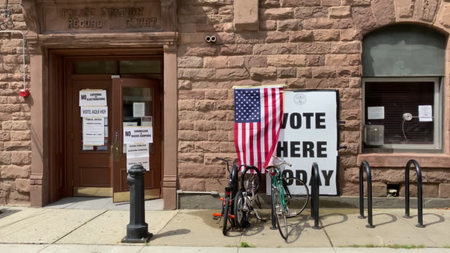 voters drop off ballots at ballot drop off boxes and vote at polling places during primary election day in newark new jersey us on tuesday july 7 2020 - united states presidential election stock videos & royalty-free footage