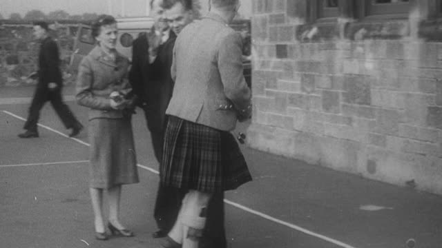 1960 b/w voters going to polling stations to place their vote / united kingdom - voting stock videos & royalty-free footage