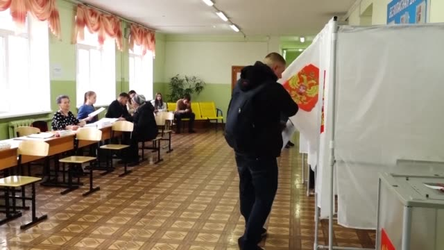 voters head back to the polls in vladivostok to elect the governor of the primorsky region in a rerun two months after results were cancelled... - head back stock videos & royalty-free footage