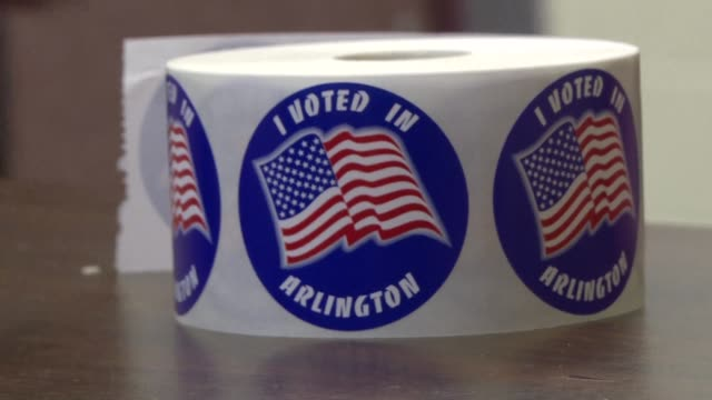 voters in arlington virginia talk about the emotions they have felt during the election process after casting their ballots in the midterm election... - arlington virginia stock videos & royalty-free footage
