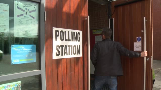 Voters in Belfast give their views on the EU referendum as they cast their votes at their local polling station