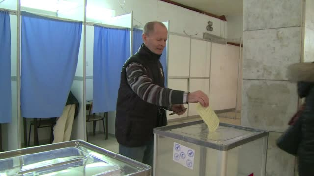 voters in crimea's historic naval city of sevastopol were going to the polls sunday in a referendum on joining russia which is expected to go in... - sevastopol crimea stock videos and b-roll footage