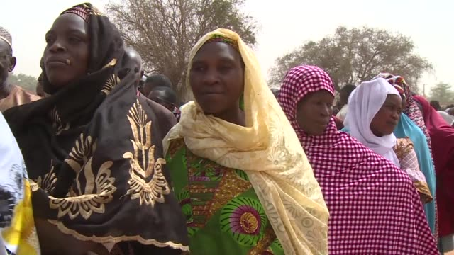 voters in niger flock to the polls as president mahamadou issoufou hopes for a second fiveyear term a total of 75 million people are eligible to vote... - mahamadou issoufou stock videos and b-roll footage