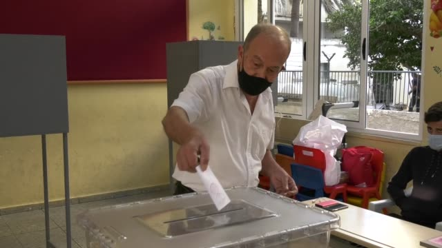 voters in the turkish republic of northern cyprus started to cast ballots for a second time on sunday, oct. 18, after the presidential candidates... - nominee stock videos & royalty-free footage