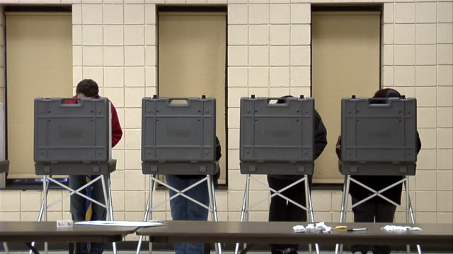 ms, voters in voting booths, ypsilanti, michigan, usa - ypsilanti stock videos & royalty-free footage