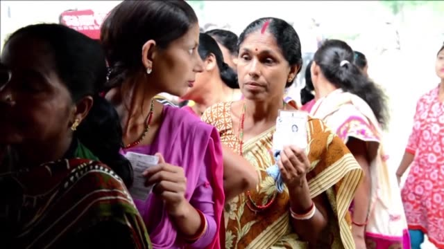 voters in west bengal cast their ballots at polling stations during the second phase of legislation elections which take place in six stages from... - west bengal stock videos and b-roll footage