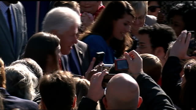 voters prepare for midterm elections gvs bill clinton along at rally meeting people - bill clinton stock videos and b-roll footage