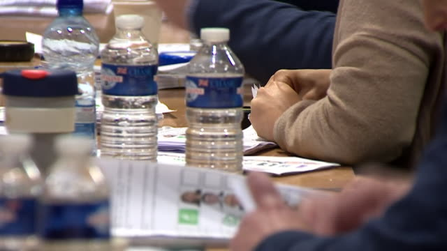 votes being counted in the irish general election - sinn fein stock videos & royalty-free footage