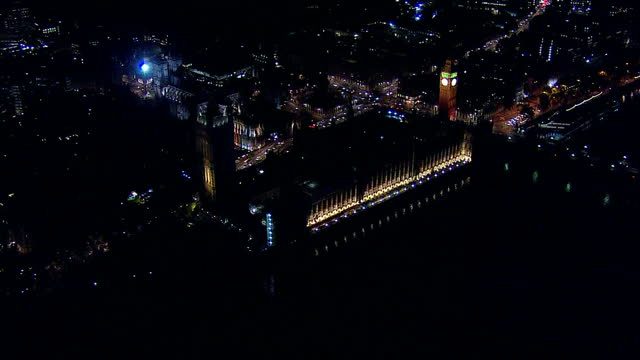 votes counted across the country after a day of people going to the polls. shows exterior aerial night shots westminster palace lit up. on may 07,... - ballot box stock videos & royalty-free footage