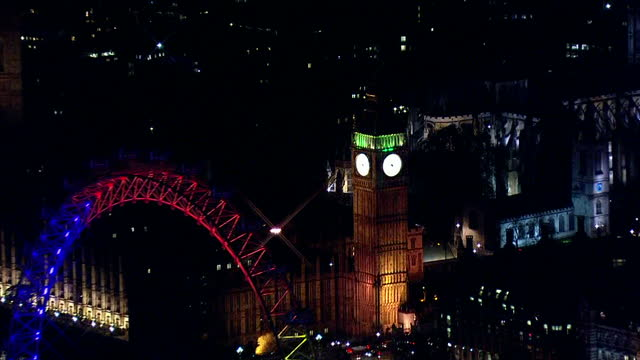 votes counted across the country after a day of people going to the polls. shows exterior aerial night shots westminster palace & big ben lit up. on... - ballot box stock videos & royalty-free footage