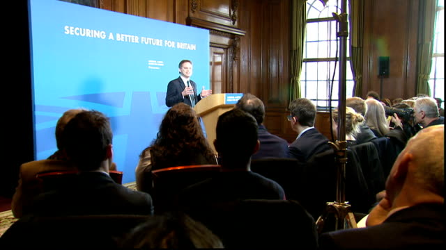votes of migrants could play a large part in the outcome of the general election int grant shapps mp along to podium to address meeting shapps... - grant shapps stock videos and b-roll footage