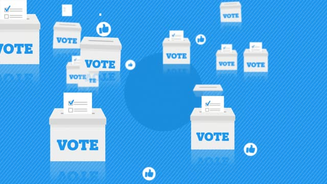 vídeos de stock e filmes b-roll de voting ballots election animated background (loopable) - eleições
