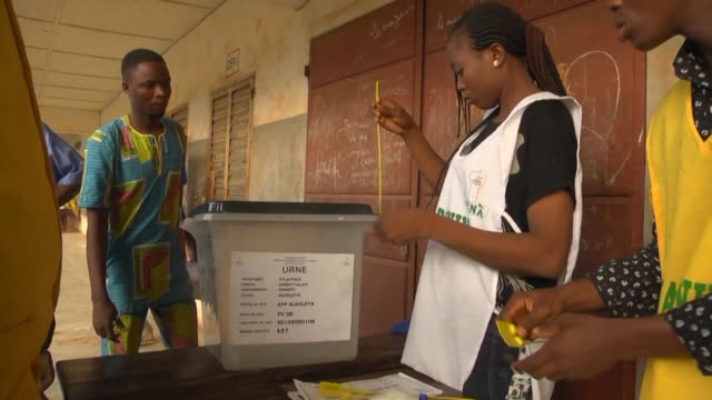 voting begins in the deciding second round of presidential election in benin - benin stock videos and b-roll footage