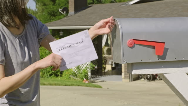 voting by mail - sending stock videos & royalty-free footage