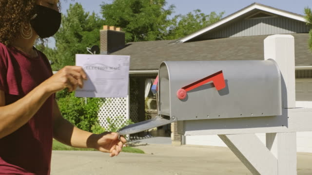 stockvideo's en b-roll-footage met stemmen per mail - verkiezing