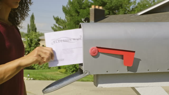 vídeos de stock e filmes b-roll de voting by mail - letterbox