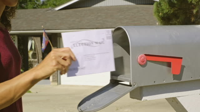 voting by mail - patriotism stock videos & royalty-free footage