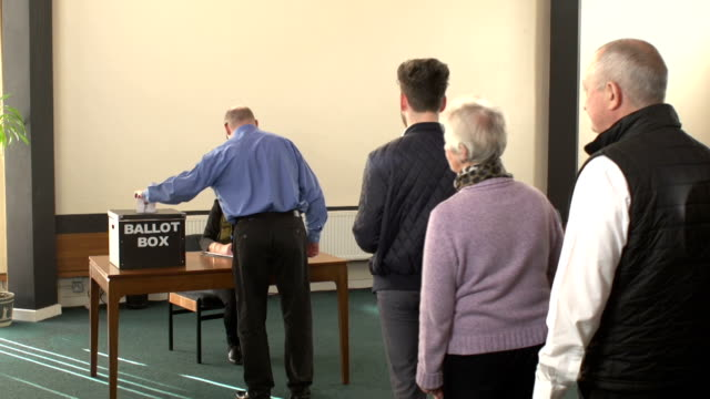 voting in ballot box for the election - voting ballot stock videos and b-roll footage