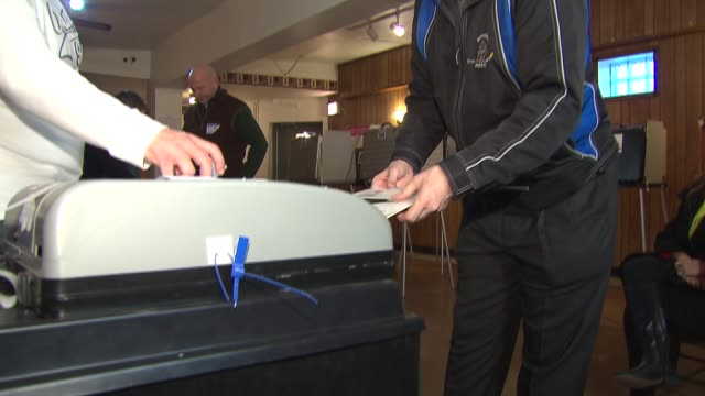 voting in the illinois primary on march 18 2014 in chicago illinois - ballot box stock videos & royalty-free footage
