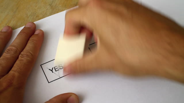 voting indecision: i don't know - yes single word stock videos & royalty-free footage