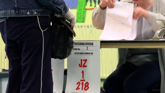 voting is under way in ireland in what is shaping up to be one of the most unpredictable elections in years. on a day when storm ciara threatens to... - main course stock videos & royalty-free footage