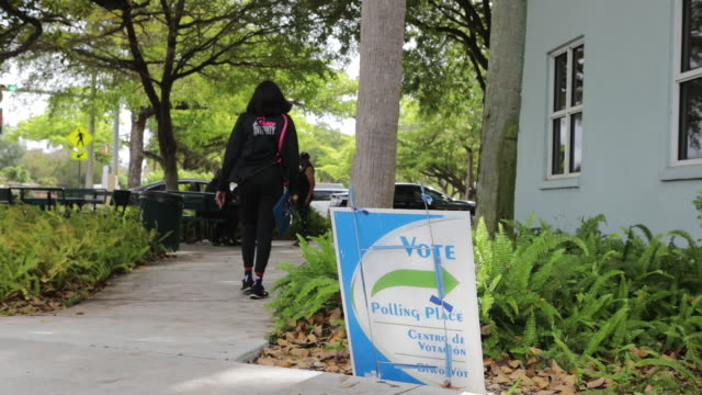 voting poll activity during primary election day, in miami, miami-dade county, florida, u.s., on tuesday , march 17, 2020. - miami dade county stock videos & royalty-free footage