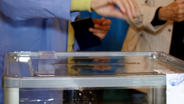 voting process - ballot box stock videos & royalty-free footage