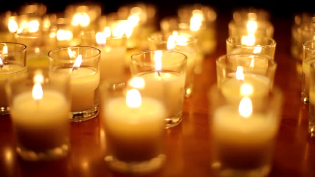 votive candle background - votive candle stock videos and b-roll footage