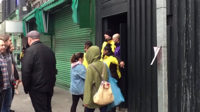 vox pops and gvs from the garage in islington where harry styles announced a surprise show this evening. warning: contains strong language. - islington stock videos & royalty-free footage