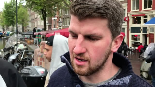 vox pops with tottenham fans ahead of their champions league semifinal second leg tie against ajax in amsterdam - semifinal round stock videos & royalty-free footage
