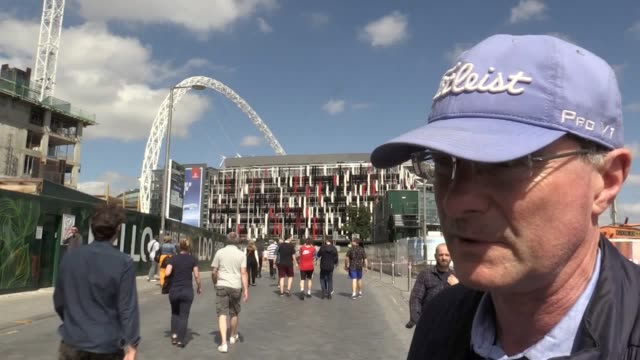voxpops with the public on the heightened security around wembley stadium as arsenal take on chelsea in the final of the fa cup. - final round stock videos & royalty-free footage