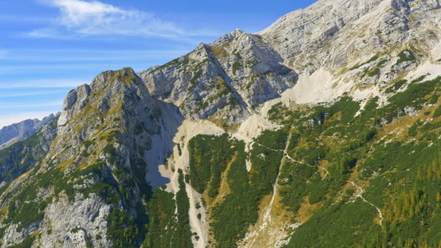 aerial vrsic pass - julian alps stock videos and b-roll footage