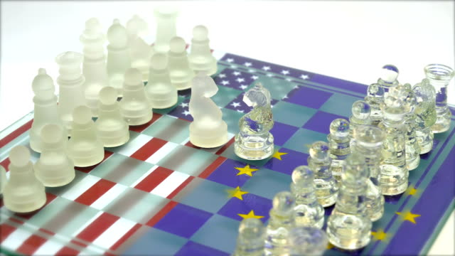 usa vs europäische union - niederlage stock-videos und b-roll-filmmaterial