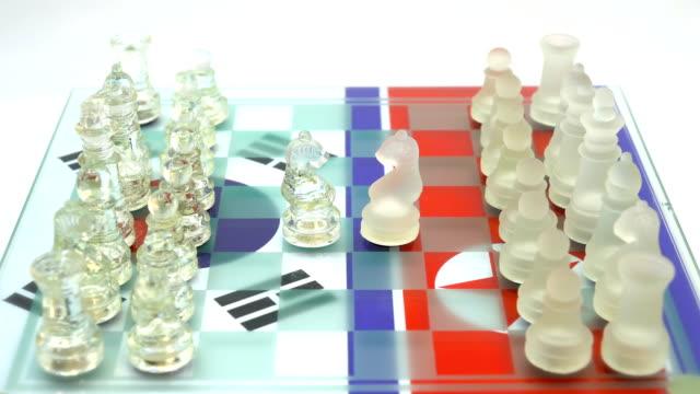 韓国 vs 北朝鮮 - 囲む点の映像素材/bロール