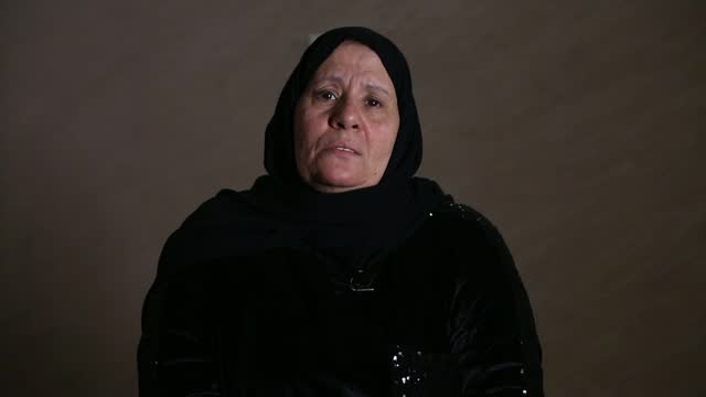 waad al-kateab reflects on 10 years of war in syria; lebanon: beirut: int hajjeh fadwa interview sot various of women knitting together hajjeh fadwa... - war and conflict video stock e b–roll