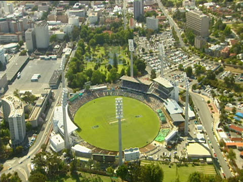 waca cricket ground perth city in background - oceania stock videos & royalty-free footage
