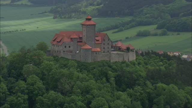wachsenburg castles - turingia video stock e b–roll