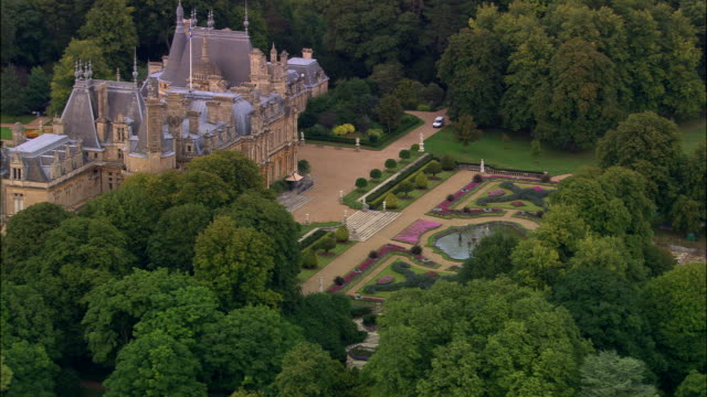 waddesdon house - stately home stock videos & royalty-free footage
