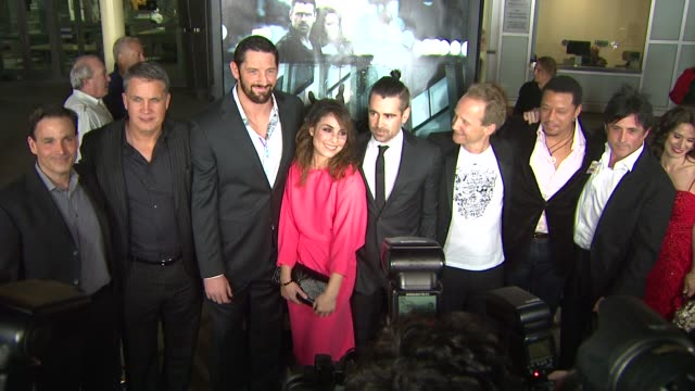 wade barrett noomi rapace colin farrell niels arden oplev terrence howard at dead man down los angeles premiere 2/26/2013 in hollywood ca - terrence howard stock videos & royalty-free footage