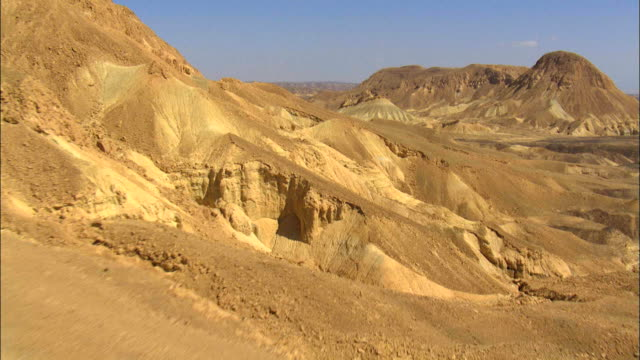 aerial wadi in the negev desert, israel - riverbed stock videos & royalty-free footage