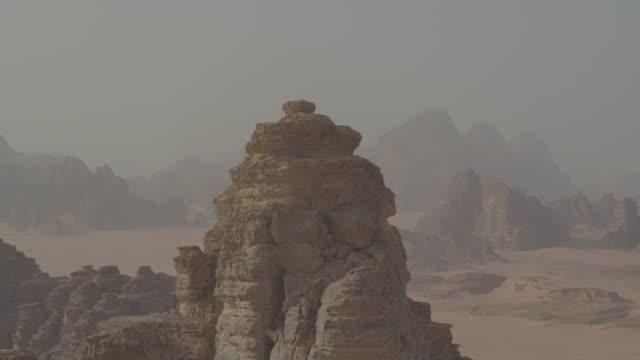 wadi rum desert drone footage - jordan middle east stock videos and b-roll footage